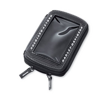 Load image into Gallery viewer, This Harley-Davidson portable music system pouch 76000193 is designed for motorcycle use. Simply plug in your headphones or connect your in-dash Advanced Audio Radio with an auxiliary cable or Boom!™ Audio iPod® Interface and enjoy your music collection or GPS tracker.  Works well with many MP3 and personal music players.