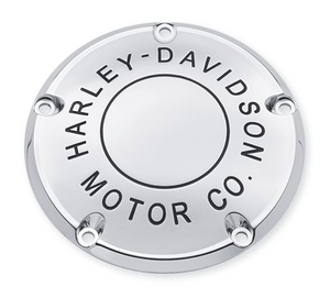 Harley-Davidson® Motor Co. Derby Cover - Chrome- 25338-99B.  This collection personifies Harley® style. It had better, because we put our name on it - The Harley-Davidson® Motor Co. Fits '99-'00 Evolution® 1340, '99-'17 Dyna®, '99-'18 Softail® (except FLSB) and '99-'15 Touring and Trike models (except FLHTCUL, FLHTKL or '07-'15 Touring or Trike models with Narrow-Profile Outer Primary Cover P/N 25700385 or 25700438).