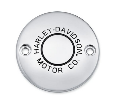 Harley-Davidson® Motor Co. Timer Cover - Chrome - 25600068   This collection personifies Harley® style. It had better, because we put our name on it – The Harley-Davidson® Motor Co. Collection. Fits '17-later Milwaukee-Eight® engine-equipped models.