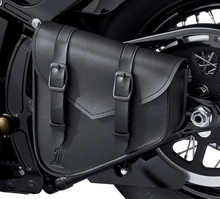 Load image into Gallery viewer, Harley-Davidson® Black Standard Line Swingarm Bag - 90201768