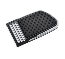 Load image into Gallery viewer, Harley-Davidson® Defiance Large Brake Pedal Pad - Black Anodized Machine Cut- 50600186