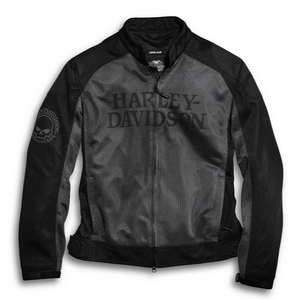 Harley-Davidson® Men's Skull Mesh Riding Jacket