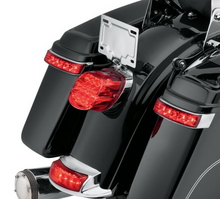 Load image into Gallery viewer, Harley-Davidson® Electra Glo LED Saddlebag Run/Brake/Turn Lamp - Chrome Housing/Red Lens - 67800241A