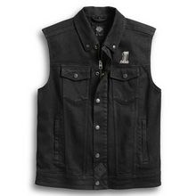 Load image into Gallery viewer, Harley-Davidson® Men's 3-in-1 Denim Riding Vest