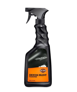 Harley-Davidson® Denim Paint Cleaner 473mL - 93600064.  Specially formulated for denim paint, this handy quick detailer cleans and protects the silky matte finish.