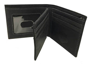 Harley-Davidson® Men's Refuel Bi-Fold Leather Wallet w/ RFID Protection HDMWA11733