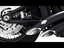 Load and play video in Gallery viewer, Vance & Hines BIG RADIUS 2-INTO-2 - Black - 46077 -SOFTAIL 2018+