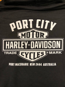 Port City Harley-Davidson Bar & Shield  Left Chest Fleece Crew