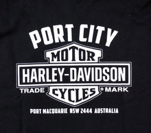 Load image into Gallery viewer, Port City Harley-Davidson Bar & Shield Crew Neck Fleece - Black / Sleeve Print