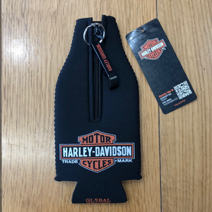Harley-Davidson® Genuine Oil Neoprene Zippered Bottle Wrap w/ Opener - BZ21230