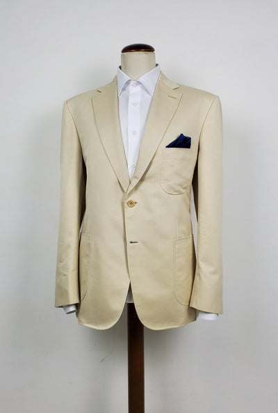 handmade italian tailored jacket, cotton-linen-silk fabric