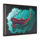 Leopard Shark Horizontal Framed Premium Gallery Wrap Canvas