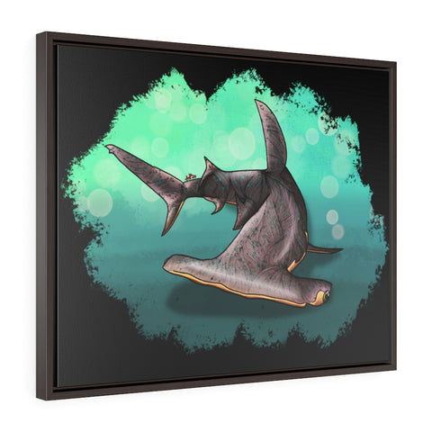 Hammer Shark Framed Premium Gallery Wrap Canvas