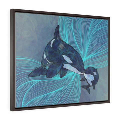 Orcas Framed Premium Gallery Wrap Canvas