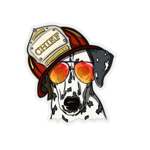 Dalmatian Fire Chief Sticker