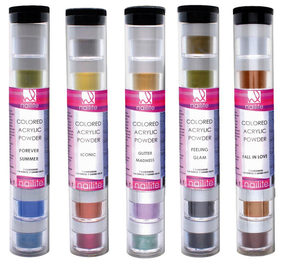 Colored Acrylic Powder Set