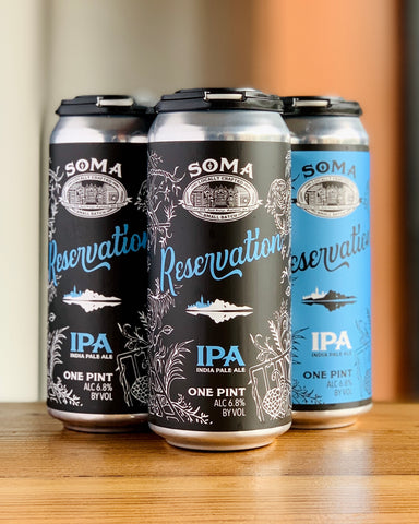 SoMa Brewing Co. Reservation IPA - 4 Pack, 16 oz Cans