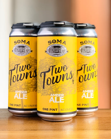 SoMa Brewing Co. Two Towns Ale - 4 Pack, 16 oz Cans