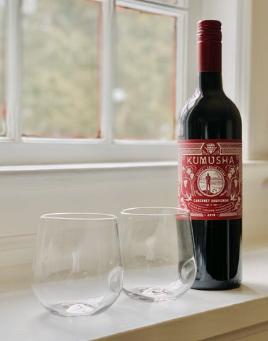Andrew O. Hughes Hand-Blown Red Wine Glasses + Kumusha Cab - #neighbors_wine_shop#