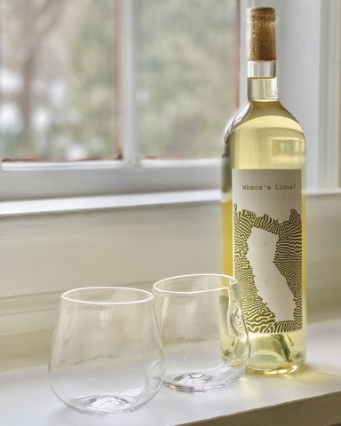 Andrew O. Hughes Hand-Blown White Wine Glasses + Where's Linus? Sauv Blanc - #neighbors_wine_shop#