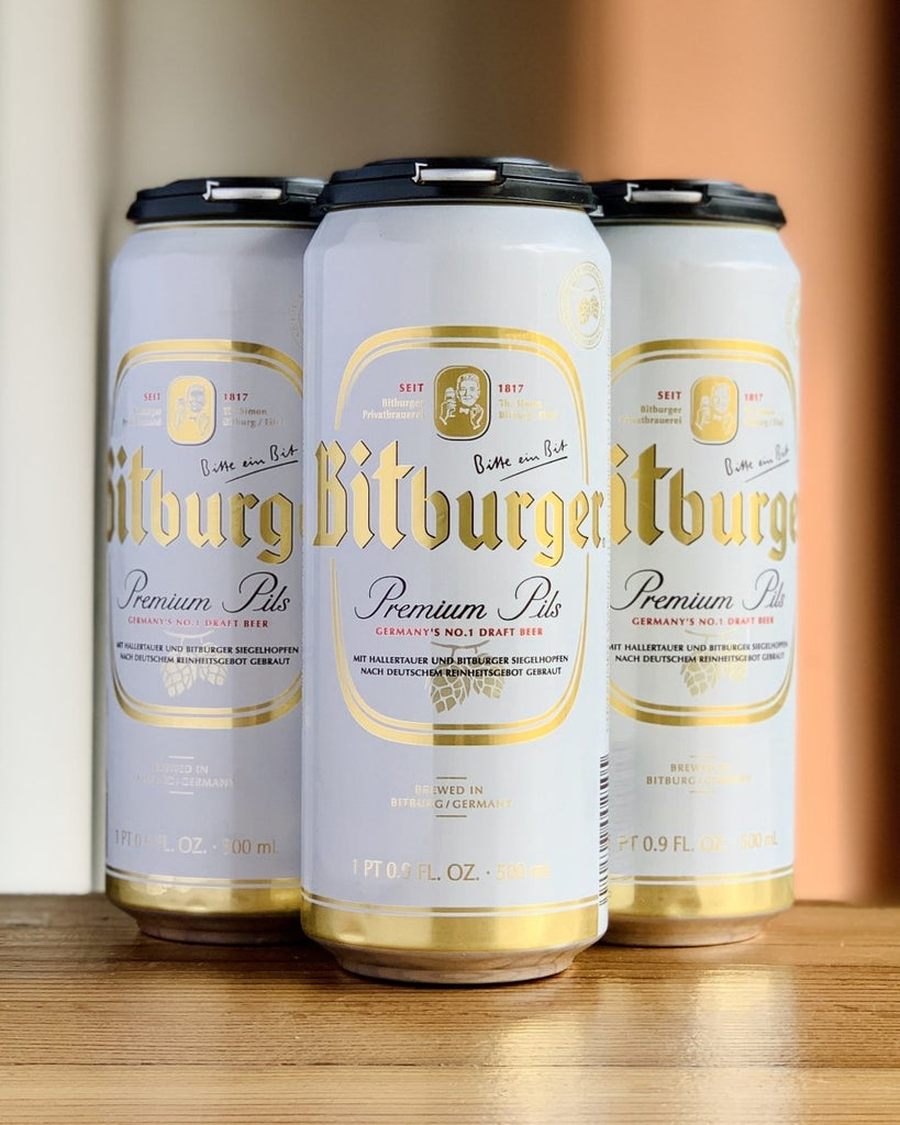 Bitburger Premium Pils - 4 Pack, 16.9 oz Cans - #neighbors_wine_shop#