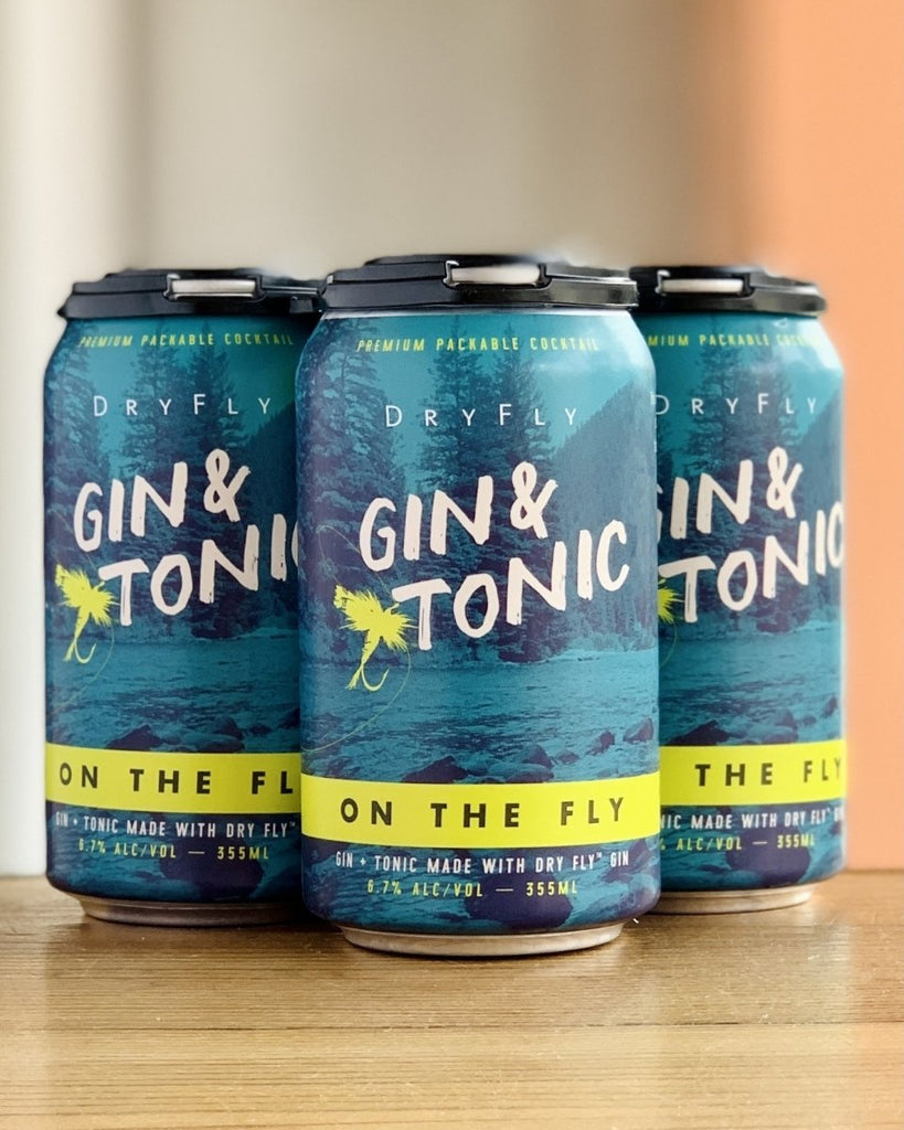 Dry Fly Distilling - On The Fly Gin & Tonic, 4 Pack, 12oz Cans - #neighbors_wine_shop#