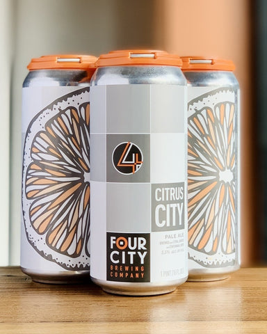 Four City Brewing Citrus City Pale Ale - 4 pack, 16 oz Cans - #neighbors_wine_shop#