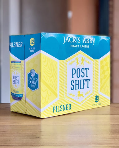 Jack's Abby Post Shift Pilsner - 12 Pack, 12oz Cans - #neighbors_wine_shop#