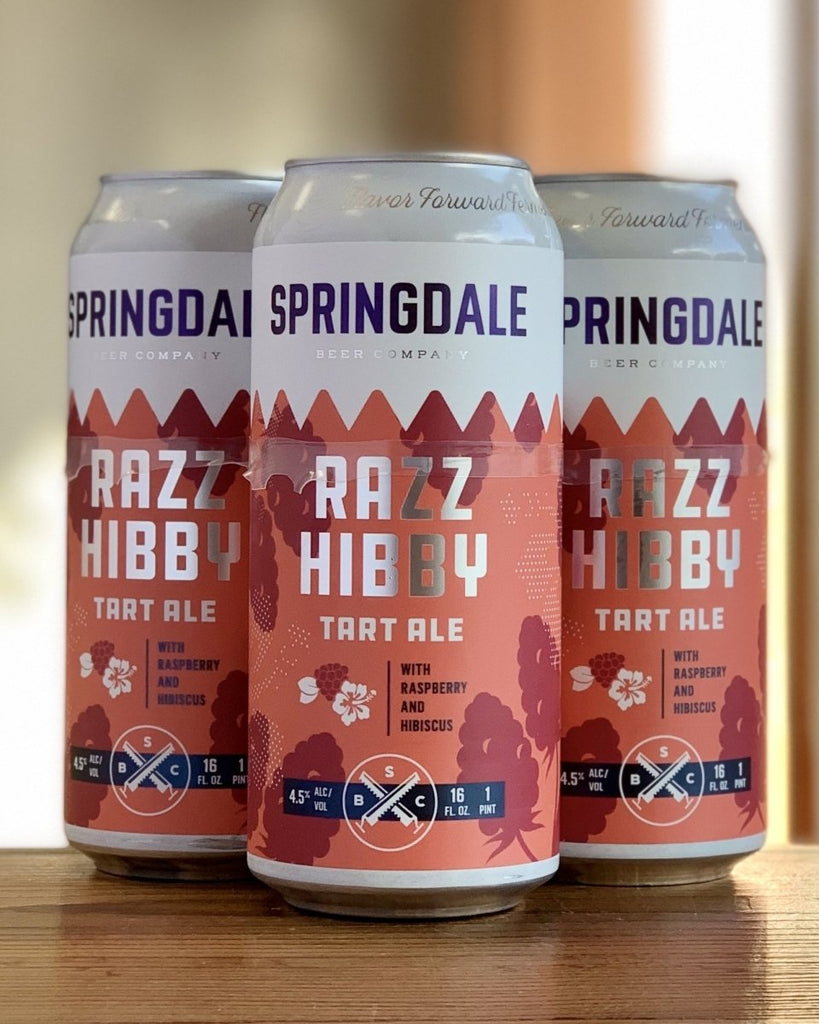 Springdale Razz Hibby Kettle Sour- 4 Pack, 16oz Cans - #neighbors_wine_shop#