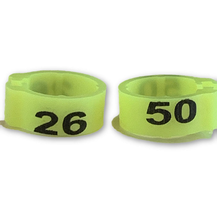 Numbered Bands Neon Yellow