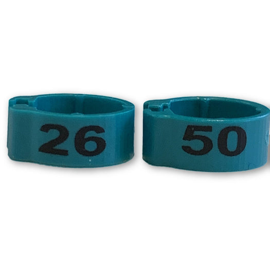 Numbered Bands Teal Blue