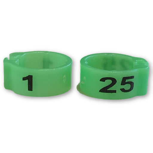 Numbered Bands Neon Green