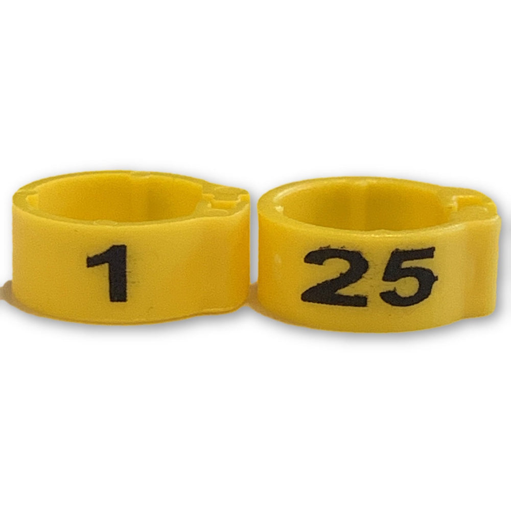 Numbered Bands Yellow