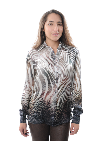 Animal Print Long Sleeve Shirt
