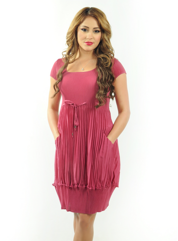 Funny Accordion Pleated Dress