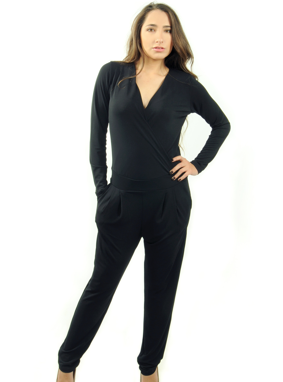 Maraboutee Long Sleeve Jumpsuit