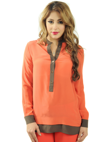 World Collage Tunic Blouse