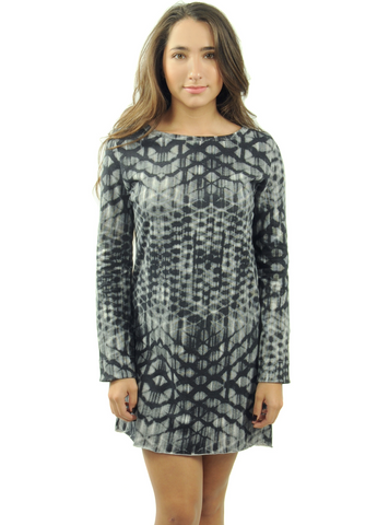 Women's Fence Assymetric Long-Sleeve Dress