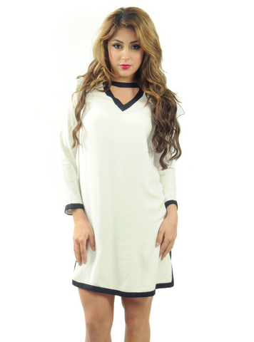 Women's Outline Long-Sleeve Casual Dress