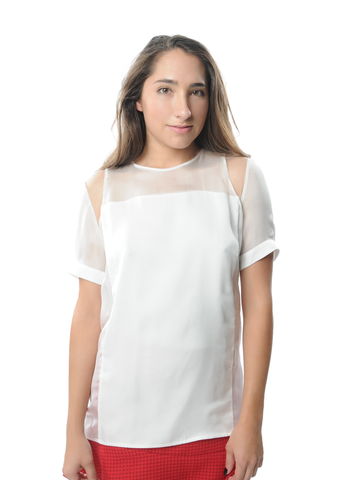 Carlos Miele Basic Mesh Top