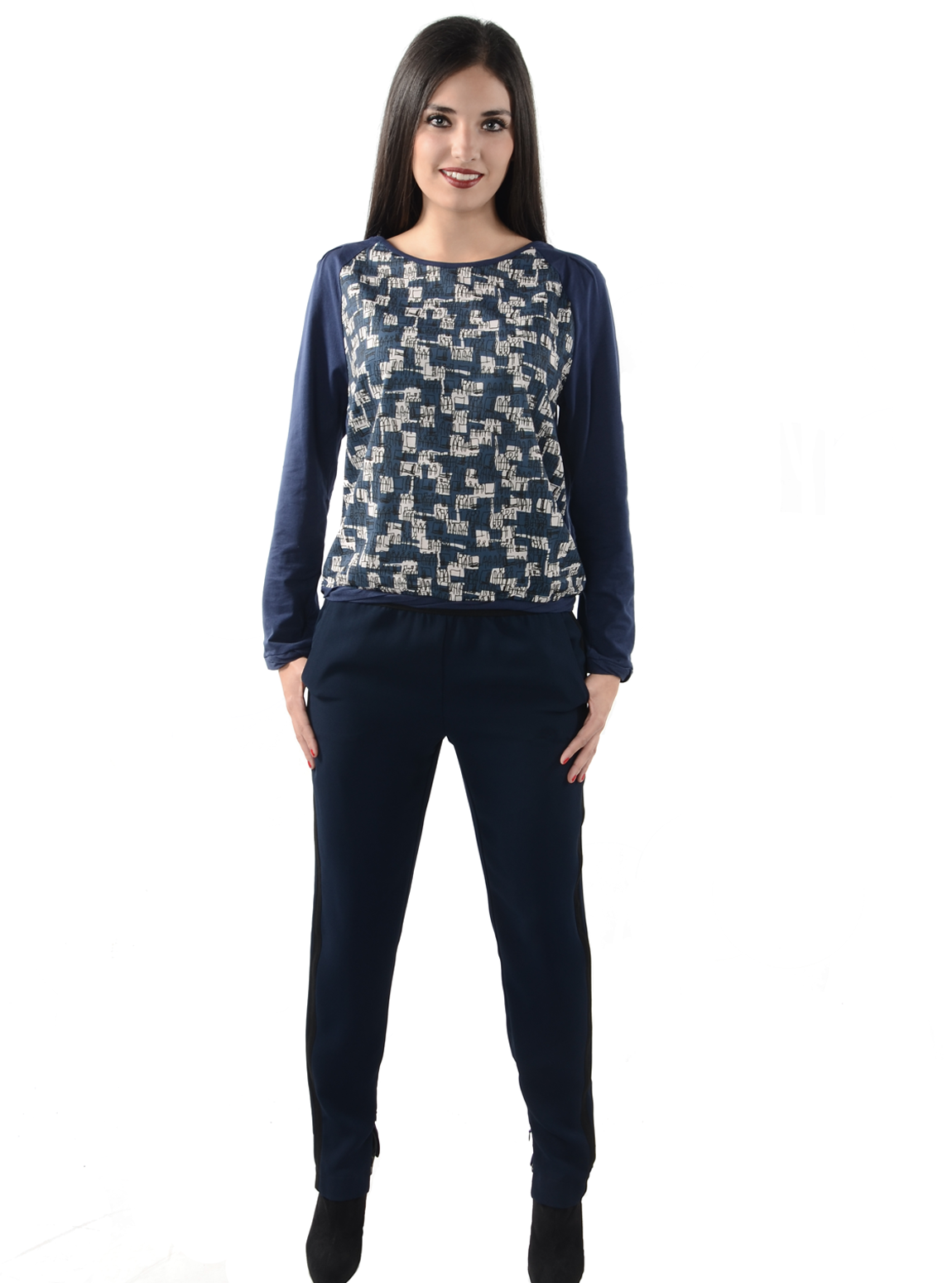 Marine Relaxed-Fit Tuxedo Pant