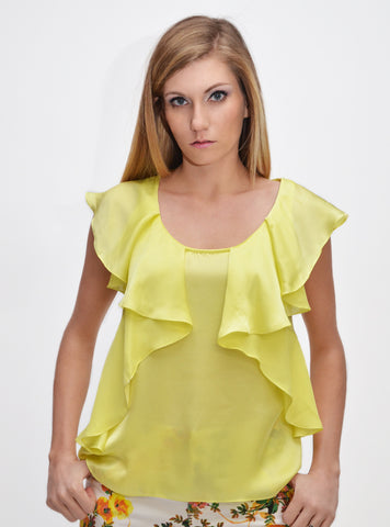 Zidede Ruffle Sleeveless Top