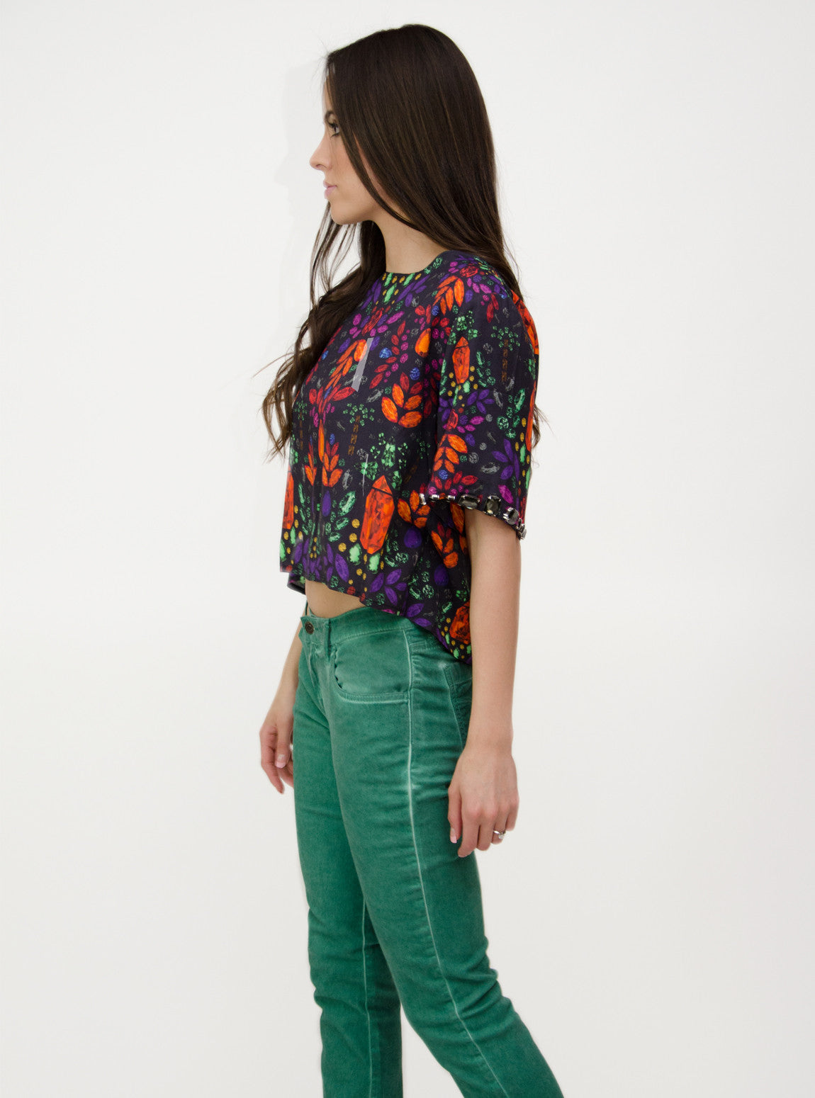 Women's Watercolor Skinny Pants