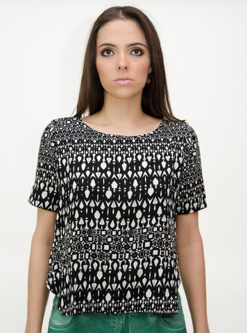 Women's Small Pattern Print Blouse