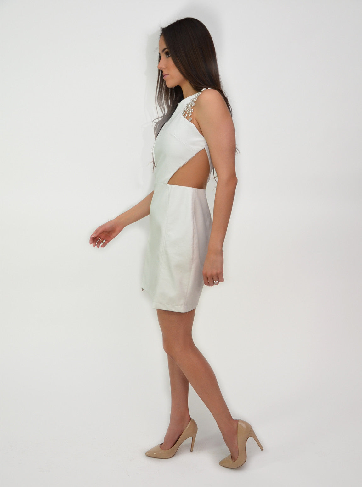 Juriti Sleeveless Cutout Dress