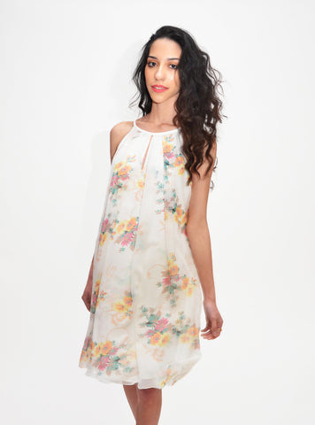 Japanese Floral Sleeveless Dress