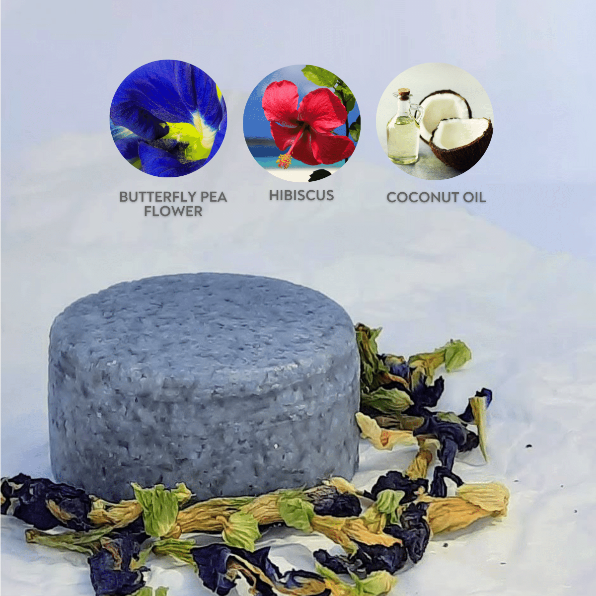 Shampoo Bar Butterfly Pea Flower