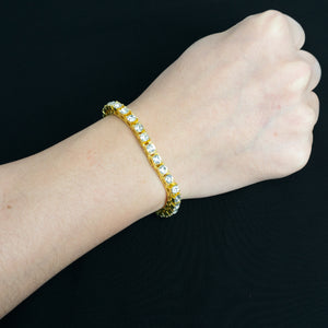 PE2003 14K Tennis chain Bracelet 5mm×18/20/22cm