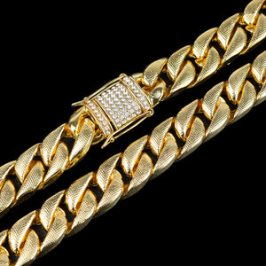 PE3170 18K Miami Cuban Link 14.5mm×70cm