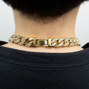 PE3370 18K Miami Cuban Link 14.5mm×70cm